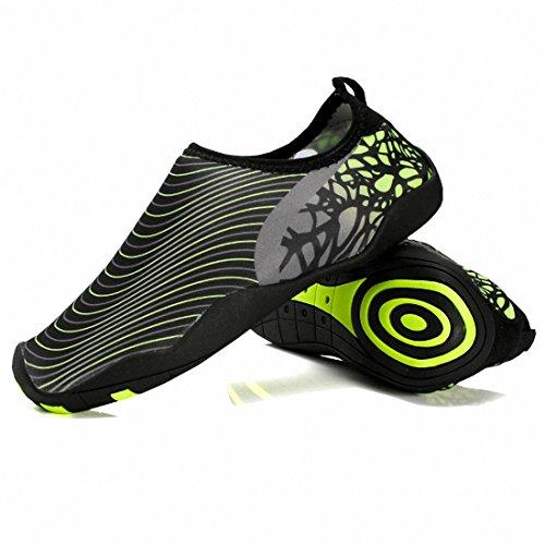 Ben Sports Hommes Pieds nus Quick-Dry Chaussures d'eau Aqua pour l'exercice Noir