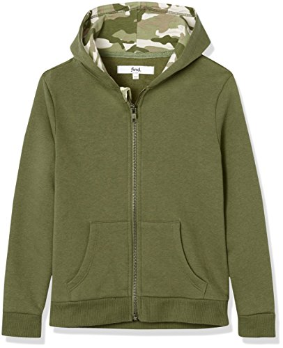 RED WAGON Hoodie Jungen, Grün, 116 (Herstellergröße: 6 Jahre) (Kinder Jungen Grün)