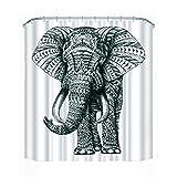 Amazingdeal365 3D Elefant Wasserdicht Wasserabweisender Stoff-Duschvorhang mit 12 Schlaufen (1.8m*1.8mm) (1.8m*1.8m)