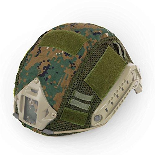 3f90990d491 Hunting Explorer Tactical FAST MH PJ - Casco de camuflaje con accesorios  para casco militar de