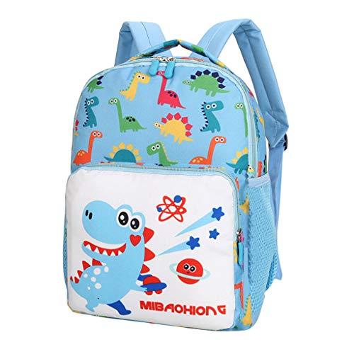Mitlfuny handbemalte Ledertasche, Schultertasche, Geschenk, Handgefertigte Tasche,Baby Jungen Mädchen Kinder Tasche Dinosaurier Muster Cartoon Rucksack Kleinkind Schultaschen