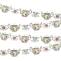 Talking Tables Truly Alice Decorative Teapot Party Bunting – 4 metre, Fabric Multicolour, 22x23.5x1 cm