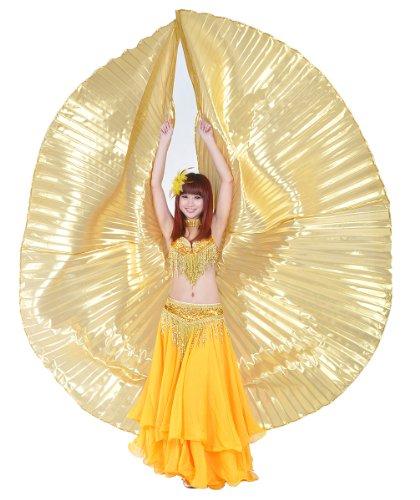 Dance Fairy d'oro danza del ventre Iside ali costume di Halloween senza bastoni
