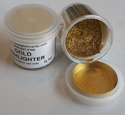 Gold Highlighter Dust, 2 grams by Concepts In Candy by Concepts in Candy (Dust Highlighter Gold)