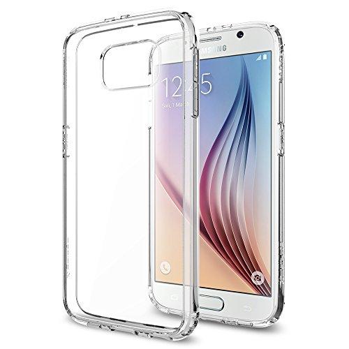 Samsung Galaxy S6 Hülle, Spigen® [Ultra Hybrid] Luftpolster-Technologie [Crystal Clear] Durchsichtige Rückschale und TPU-Bumper Schutzhülle für Samsung S6 Case, Samsung S6 Cover, Galaxy S6 Case, Galaxy S6 Cover - Crystal Clear (SGP11317)