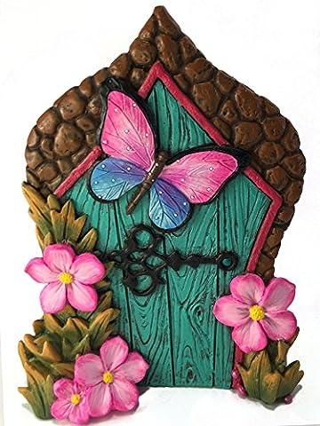Miniatur-Schmetterlings-Fee Tür für miniatur Gartenfeen und Gnome. Ein Fee und Rasen Gnome Garten (Acqua Gnome)