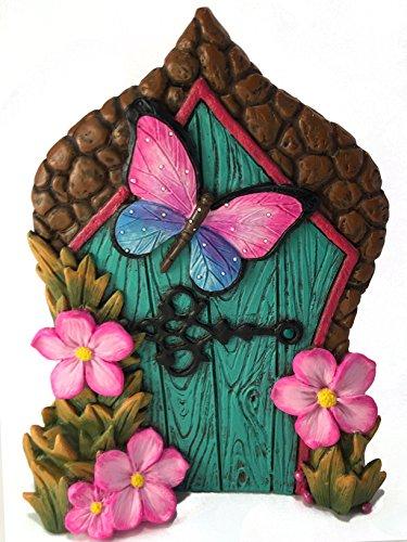 GlitZGlam Puerta de Hadas con Mariposa en Miniatura para Hadas de jardín...
