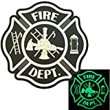 Glow Dark ACU Fire Fighter Dept EMS EMT Rescue Firemen Engine Morale Gear PVC Hook-and-Loop Aufnäher Patch