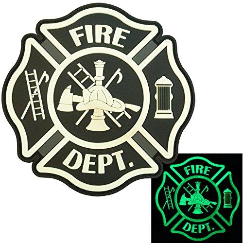Glow Dark ACU Fire Fighter Dept EMS EMT Rescue Firemen Engine Morale Gear PVC Hook-and-Loop Aufnäher Patch -