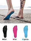 #9: Adhesive Pad, Invisible Shoes for Water, Barefoot Shoes, Stick on Foot Soles with Anti-slip & Waterproof Design for Barefoot Lover, beach, walk, running, swimming-Assorted color (XL)