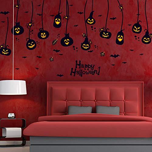 HARRYSTORE 60X90Cm Halloween Hexe Hintergrund Eingerichtetes Wohnzimmer Schlafzimmerwand Aufkleber Sensenmann Wand Aufkleber