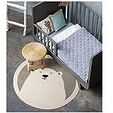 Teppich-100% Baumwolle, Weich Und Komfortabel, Umweltschutz Gegen Sturz, Eisbär Verdickte Cartoon-Runde Teppich, Größe (200Cm) Durchmesser