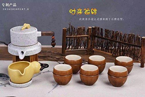 MEICHEN Regali di lusso per cucina pranzo soggiorno studio Gu jdsfhjkdsfhkjds gres porcellanato viola automatico tè insieme a mano , style 8