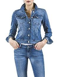 Meltin'Pot - Veste JUSTINE D0134-UH395 pour femme, style jeans, taille slim, manches longues