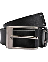 POLO INTL Men's Leather Belt (Navy Blue, 32 inches)