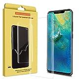 Ferilinso Verre trempé pour Huawei Mate 20 Pro,[1 Pièces] [Couverture complète] [sans Bulles] [Favorable aux Cas] Protection écran avec Garantie à Vie pour Huawei Mate 20 Pro (Transparent)
