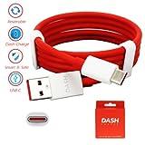 Echtes Plus Dash Typ-C 1M schnell 4A flache Gewirr gratis USB-Ladegerät führen Datenkabel für eine Plus 3 3 t 5 (keine Retail-Verpackung)