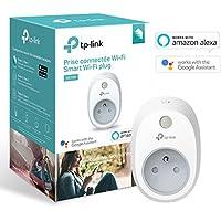 TP-Link Prise connectée WiFi, fonctionne avec Amazon Alexa (Echo et Echo Dot), Google Assistant et IFTTT pour la commande vocale, aucun hub requis, contrôle vos appareils connectés depuis n'importe où - HS100(FR)