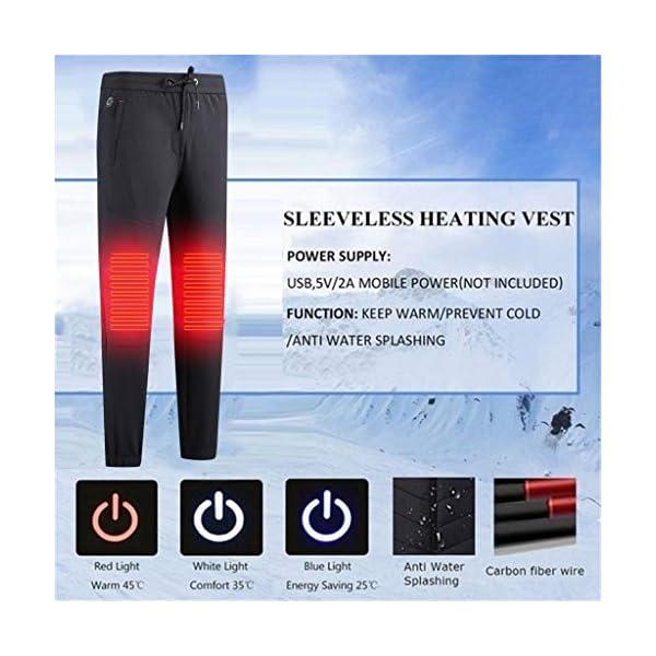 Shenye - Pantalones térmicos para niños de 3 a 9 años, con calefacción por USB, para niños Grandes y niñas, para… 4