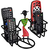 D&V ENGINEERING Metal Remote Holder for TV, AC, DTH (Standard Size, Green and Pink with Dancing Lady)