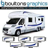 Motorhome Stripes - Camper Van Horsebox Caravan Decals Vinyl Sticker Graphic SS1