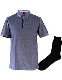 5bb0291dfe73 OLYMP Polo Shirt Level Five, Body Fit, Pique Knopfleiste, Blau, Struktur +