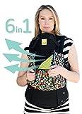 LILLEbaby regolabile fino a SEI posizioni, marsupio ergonomico per neonato & bambino fino a 360° - Indicato per TUTTE le stagioni (Black w/ Fall Flowers)