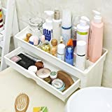 Klaxon Bathroom Cosmetic Organizer / Bathroom Accessories Shelves / Bathroom Storage Rack -With Drawer-White