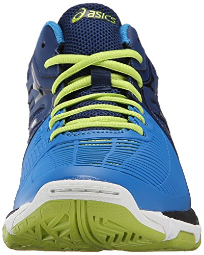 Asics Gel-Netburner Ballistic Synthétique Chaussure de Course Navy-Silver-Electric Blue