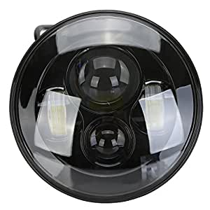 """Phare Moto, OSAN Phare 7"""" lampe HID Projecteur LED Phare éblouissant pour Harley"""