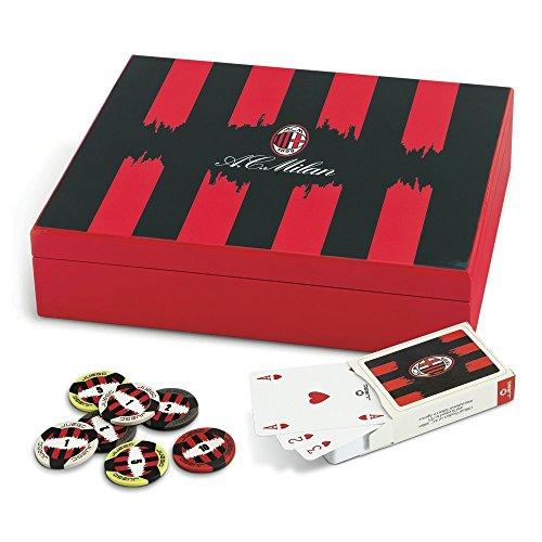 Juego JU00616 AC Milan Poker Set Pokerkoffer inkl. Pokerkarten + 200 Poker Chips - Mehrfarbig