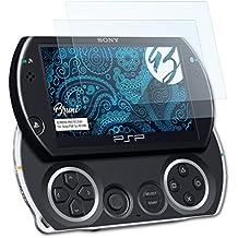 Bruni Sony PSP Go (N1000) Pellicola Proteggi - 2 x cristallino Protezione Pellicola dello Schermo Pellicola Protettiva per Sony PSP Go (N1000)
