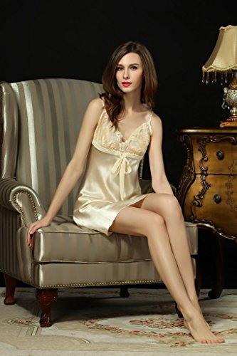Kissvian - Chemise de nuit - Femme Abricot