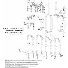 RockShox - CSU de recambio para horquillas Reba Dual Air (140 mm), color negro