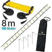 #DoYourFitness® Koordinationsleiter/Fitnessleiter - Länge 4m 6m 8m - Trainingsleiter (ENGL. Agility Ladder) BZW. Konditionsleiter für Beweglichkeitsübungen/Schnelligkeitstraining