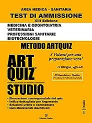 Artquiz Studio. XIII Edizione A.A.2020-21. Test di ammissione per Medicina, Odontoiatria, Veterinaria, Profess