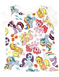 My Little Pony Characters All Over weiß Kleinkind T-Shirt