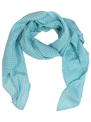 Seiden-Tuch mit dezentem Muster - Hochwertiger Schal für Damen Mädchen - Halstuch - Umschlagstuch - Loop - weicher Schlauchschal für Sommer Herbst und Winter von Cashmere Dreams Zwillingsherz - türk