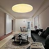 VINGO®50W LED Deckenleuchte Warmweiß Sternenhimmel Rund Deckenlampe Wand-Deckenleuchte 4750lm Badlampe Panel Lampe
