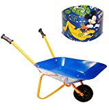 """große Kinder _ Metall Schubkarre - """" Disney Mickey Mouse """" - mit leisen Gummi Reifen - Kinderschubkarre - Gartenschubkarre - sehr stabil ! - Sandspielzeug - Gartenwerkzeug - Gärtner - Mädchen & Jungen - Metallschubkarre / Gartengerät - Vollgummi - Playhouse blau"""