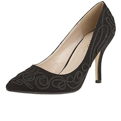 Lotus Matin Womens Dress Court Shoes 8 Black/Black
