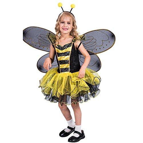 EraSpooky Mädchen Bumble Bee Kostüm mit Flügel Set