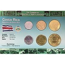 IMPACTO COLECCIONABLES Monedas del Mundo. Costa Rica, Blister de 6 Monedas auténticas SIN Circular