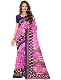 Cotton Pink Color Bhagalpuri saree With Blouse