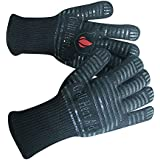 "Extreme Heat BBQ Grill Gloves for Baking, Grilling, & Oven Use – Protection Up To 932°, 14"" Long, 2 Gloves"