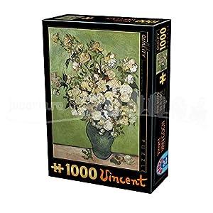 D-Toys 75871/VG 12 - Puzzle (1000 Piezas), diseño de Rosas, Color Rosa