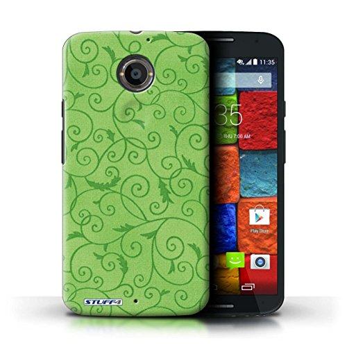 Kobalt® Imprimé Etui / Coque pour Motorola Moto X (2014) / Orange conception / Série Motif de la vigne Vert