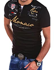 MT Styles - R-2238 - T-shirt 2 en 1 - inscription « Monaco » et imprimé