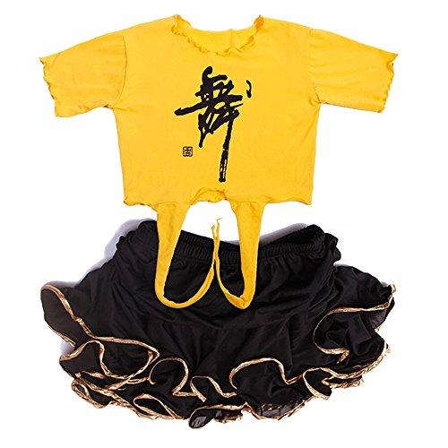 Latein Für Verkauf Kostüm - ZEVONDA Heißer Verkauf Feinschmecker Mädchen Latin Cute Ausschnitt Top + Rüschen Minirock 2pcs (XL, Stil 7)