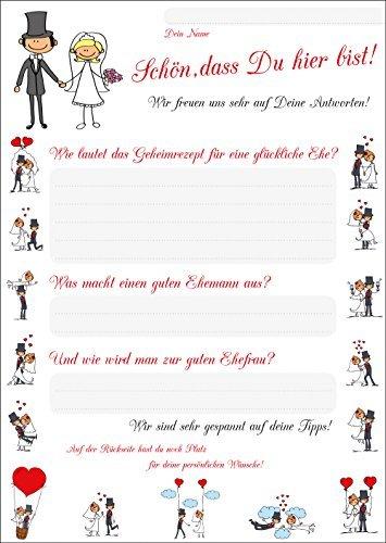 52 Postkarten für Hochzeitsspiel (Set 1)